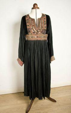 Ethnic Banjara Frock Afghani Antique Genuine Traditional Old Hand Embroidery Balochi Gypsy Tribal Hippie Bohemian Nomad Kurta Vintage Dress