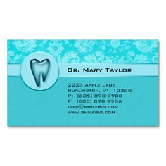 311 dental molar business card gold metalic silver pinterest dental molar business card damask blue stripes reheart Images