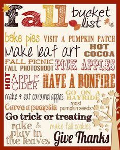 FALL! It's Fall! Hallelujah! Yes… I love Fall. I love the changing colors, the smell of fires...