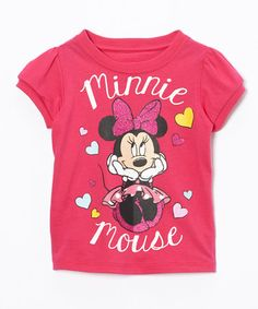 This 'Minnie Mouse' Heart Tee - Toddler is perfect! #zulilyfinds