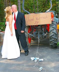 A Tractor For The Getaway Car Love It Wedding Transportation Got Married