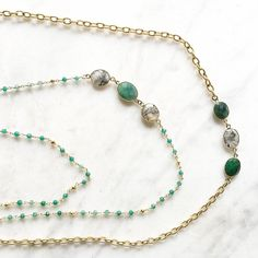 Today's details: emerald and rutile gemstones for this steamy summer day! Rutile sends out bolts of light and positivity that help to alleviate depression, and help diminish fear 💚