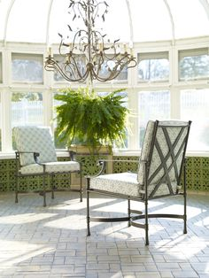 Just lovely. (Chairs from the Biscayne collection.) Ethan Allen Home and Garden collection.