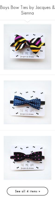 Designer Clothes, Shoes & Bags for Women Boys Bow Ties, Boy Fashion, Hair Accessories, Bows, Boys Style, Shoe Bag, Children, Polyvore, Design