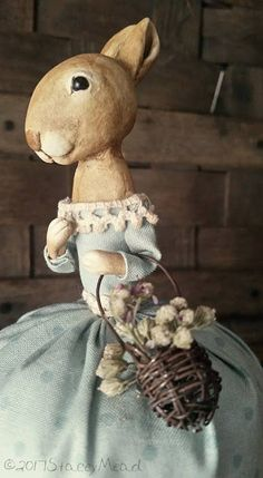 The Goode Wife of Washington County: Life's Pace  ©2017 Stacey Mead Paperclay Prrimitive Rabbit