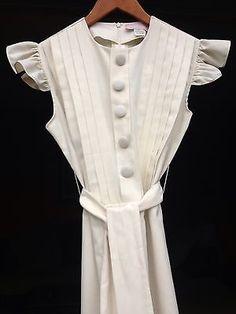SHUMAQ By Vanessa Barrantes Dress~Cream Off White~Timeless Beautiful & Elegant!!