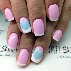 45 Pretty French Nails Designs 2016