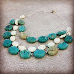 Handmade Magnesite Necklace by MiaGemsJewelry on Etsy