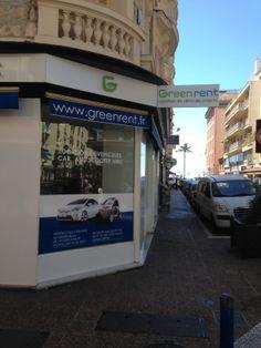 Agence de location de véhicules, Nice Centre, Greenrent.