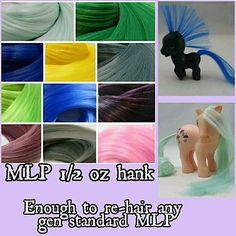 1/2oz NEW 11 Colors Nylon Hair Hank for Rehairing OOAK MLP Pony Mego Dawn Doll