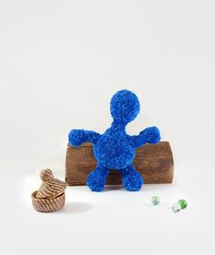 Children's toy , Blue amigurumi doll , Crochet doll , Made to order - pinned by pin4etsy.com