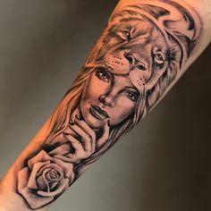 Image could contain: 1 person tattoo tatuagem - tattoed models - tattoo feminina - tattoo - tattoo q Dope Tattoos, Native Tattoos, Body Art Tattoos, Girl Tattoos, Verse Tattoos, Lion Tattoo Sleeves, Forearm Sleeve Tattoos, Best Sleeve Tattoos, Tattoo Sleeve Designs