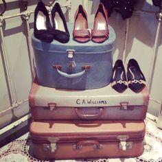 I Vintage Suitcases I Vintage Shoes I Frou Frou Designs I
