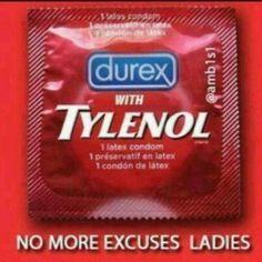 Tylenol & a condom