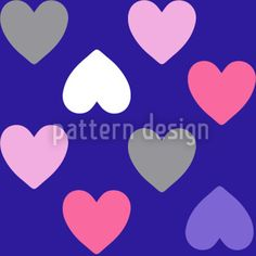 Purple Heart designed by Julie Crawley, vector download available on patterndesigns.com Purple Backgrounds, Vector Pattern, Surface Design, Special Day, Hearts, Patterns, Pink, Wedding, Block Prints