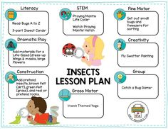 Insect Activities, Pre K Activities, Sequencing Activities, Teaching Activities, Preschool Worksheets, Preschool Lesson Plans, Preschool Ideas, Play Based Learning, Literacy Skills