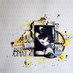 1 photo + paint + scraps