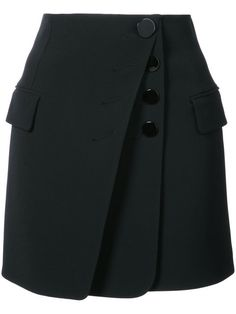 Alexander Wang Mini Skirt with Multi Button Detail
