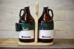 Hand Crafted Wooden Beer Growler Carrier