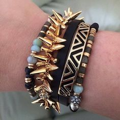 Loving this arm party.