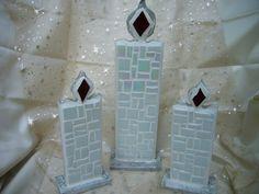 Mosaik-Kerze, Groß von Mosaikhandwerk auf DaWanda.com