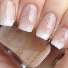 20 Gel Nail and French Mani with Ombre - Reny styles - french tip nails - Sparkle Nails, Glitter Nails, Fun Nails, Silver Glitter, Ambre Nails, French Tip Nails, Glitter French Tips, Glitter French Manicure, Bridal Nails French