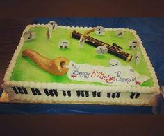 My Bassoon and Saxophone inspired birthday cake!