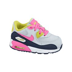 The Nike Air Max 90 2007 Infant/Toddler Girls' Shoe.