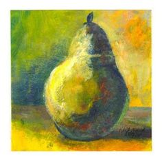 """Green Pear"" - Original Fine Art for Sale - � Kara Butler English"