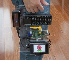 The new Portable Raspberry Pi has been created by SK Pang Electronics and features a QWERTY keyboard complete with touchpad and it owns portable power pack, which has all been mounted on to a transparent base with a carrying handle. Diy Tech, Cool Tech, Computer Projects, Arduino Projects, Diy Electronics, Electronics Projects, Tech Gadgets, Cool Gadgets, Shelf Hardware