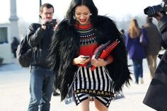 That coat! That skirt!~~~I must say, wearing this in a hunting state, well, you're taking a big risk, LOL