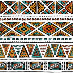Colorful fabrics, digitally printed by Spoonflower - Ornate Mud Cloth // SmallTribal Mud Cloth Pattern on fabric wallpaper and gift packaging - eye-catching mud cloth pattern that is perfect for wallpapering a guest toilet or Geometric Patterns, African Tribal Patterns, Ethnic Patterns, Textile Patterns, Textiles, Cloth Patterns, Arte Tribal, Tribal Art, Tribal Prints