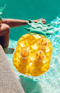 Add instant tropical vibes to your pool with this Pineapple Drink Holder Float! Size: holds four drinks Add some fun to your next pool party with this fun inflatable Pineapple drink holder! Summer Pool, Summer Fun, Summer Time, Style Summer, Summer Things, Party Summer, Wedding Summer, Summer Chic, Trendy Wedding
