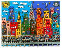 Paintbrush Rocket: 3rd Grade James Rizzi Art Folders!