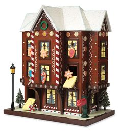 Gingerbread house + Advent calendar! Can it be any cuter???