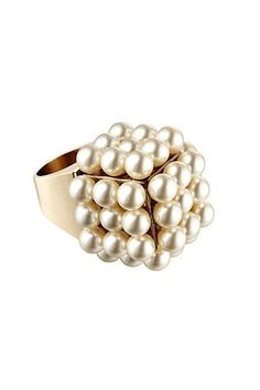 Chanel - Accessories - 2014 Spring-Summer pearls ring square