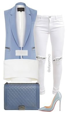 """""""Envy"""" by efiaeemnxo ❤ liked on Polyvore featuring River Island, FiveUnits, Chanel, Christian Louboutin, Rosetta Getty, topshop, christianlouboutin, sbemnxo and styledbyemnxo"""