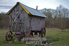 Stock Photography image of Rustic Chicken Coop on Wheels stock ...