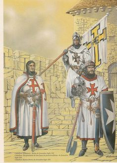 Knights Templar and a Teutonic Knight