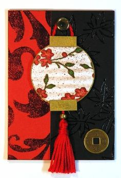 Asian-inspired Lantern by Plain Jane - Cards and Paper Crafts at Splitcoaststampers