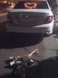 Idea para la parte trasera del auto (también del casamiento de Andrés)
