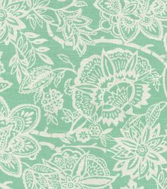 Home Decor Print Fabric: Richloom Studio Cimino Aqua, from Jo-Ann Fabrics.  Would like to use this for curtains somewhere, someday!