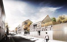 agence d'architecture huca_57 logements collectifs et 3 maisons