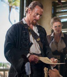Black Sails - Captain Flint (Toby Stephens) and Eleanor Guthrie (Hannah New)