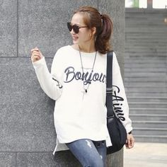 Dip-Back Lettering T-Shirt from #YesStyle <3 Soneed YesStyle.com