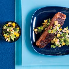 Jamaican Jerk Salmon and Mango Pineapple Salsa
