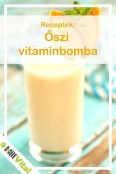 Elkészítés Hámozzuk meg a banánt és a narancsot, majd turmixoljuk össze a felaprított gyümölcsöket a narancslével, a mézzel, egy csipetnyi fahéjjal és egy kevés gyömbérrel. Smoothie Bowl, Smoothie Recipes, Smoothies, Protein Shakes, Soup And Salad, Milkshake, Glass Of Milk, Juice, Vitamins