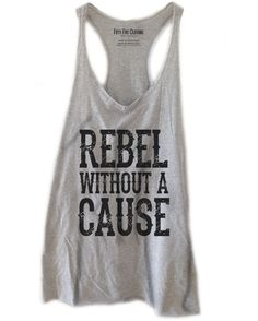 Rebel Without A Cause Vintage Women's Raw Edge Racerback Tank Top