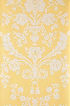yellow and white wallpaper