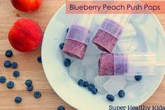 Blueberry Peach Push Pops | Healthy Ideas for Kids / use plain coconut milk yogurt